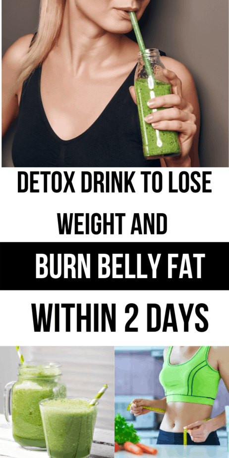 Detox Drink To Lose Weight And Burn Belly Fat Within 2 Days